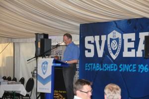 Bernd Büter, Spieler der ründungself, erzählte aus den Anfängen des SVEA